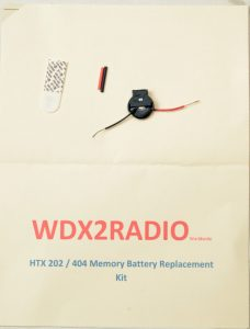 HTX-202 HTX-404 memory battery replacement kit