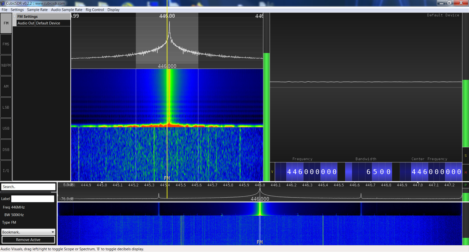 Retevis RT22 SRD spectrum analysis