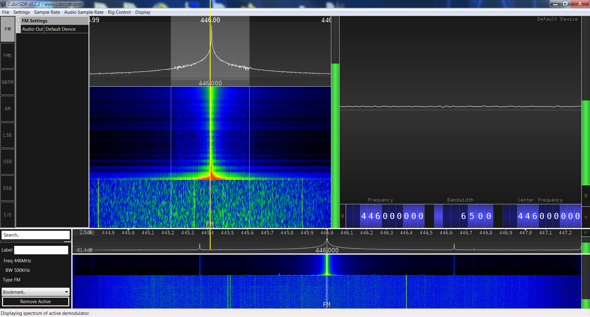Baofeng UV-3R Plus SRD spectrum analysis