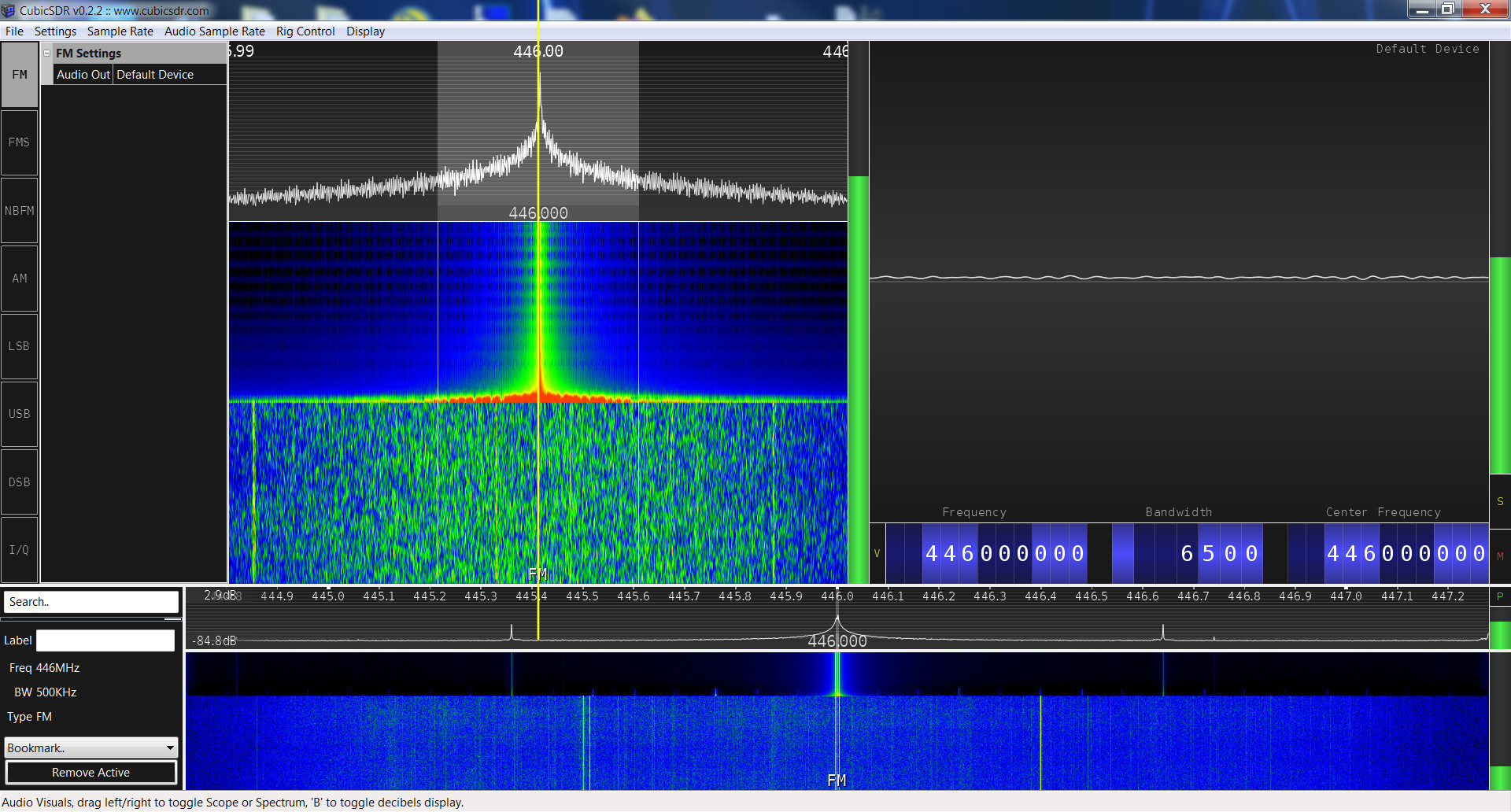Baofeng UV-5R SRD spectrum analysis
