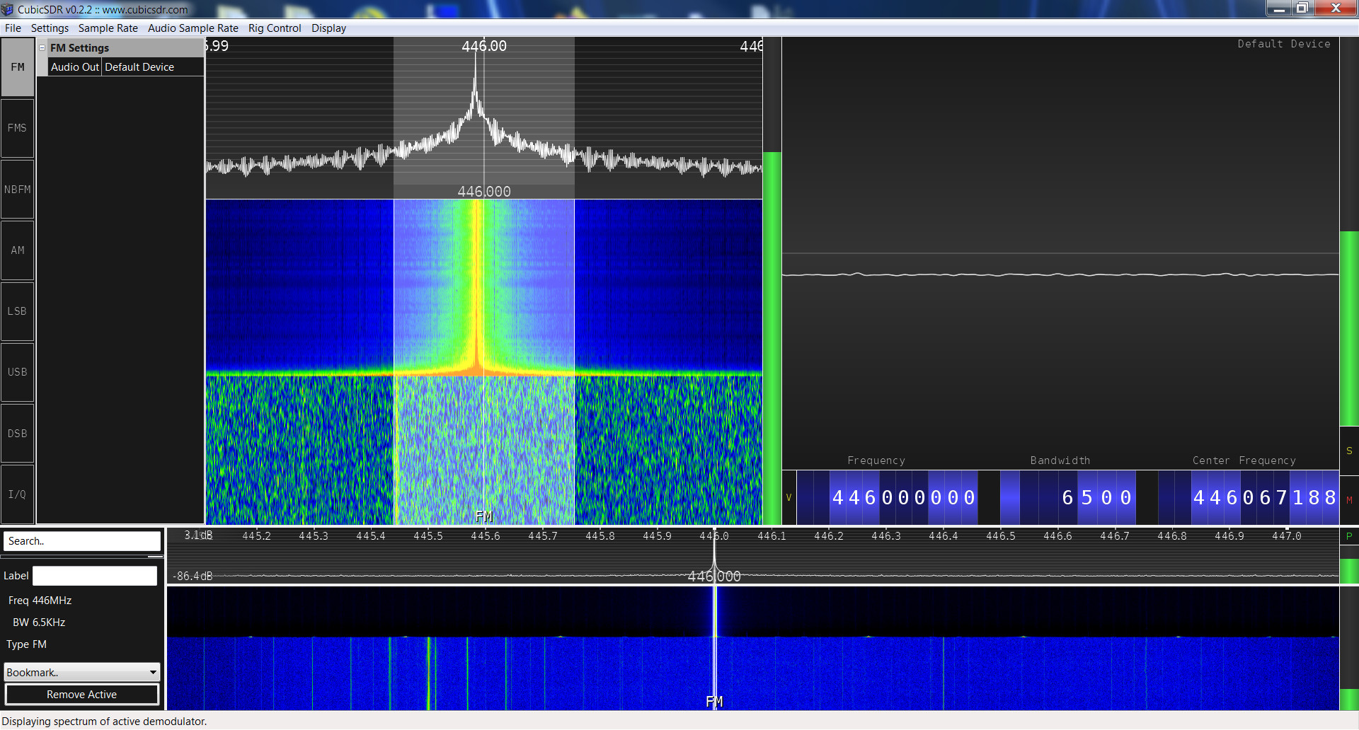 Baofeng UV-5R5 SRD spectrum analysis