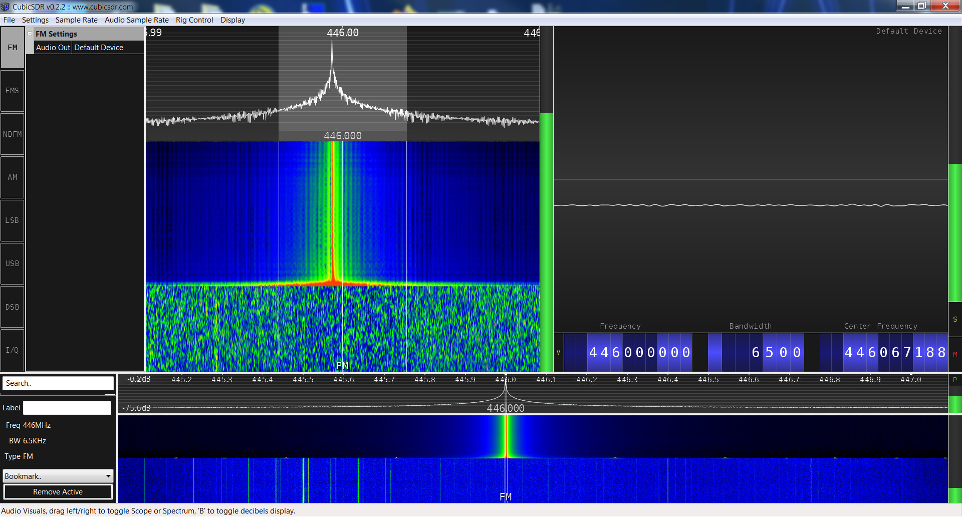Baofeng BF-F8+ SRD spectrum analysis