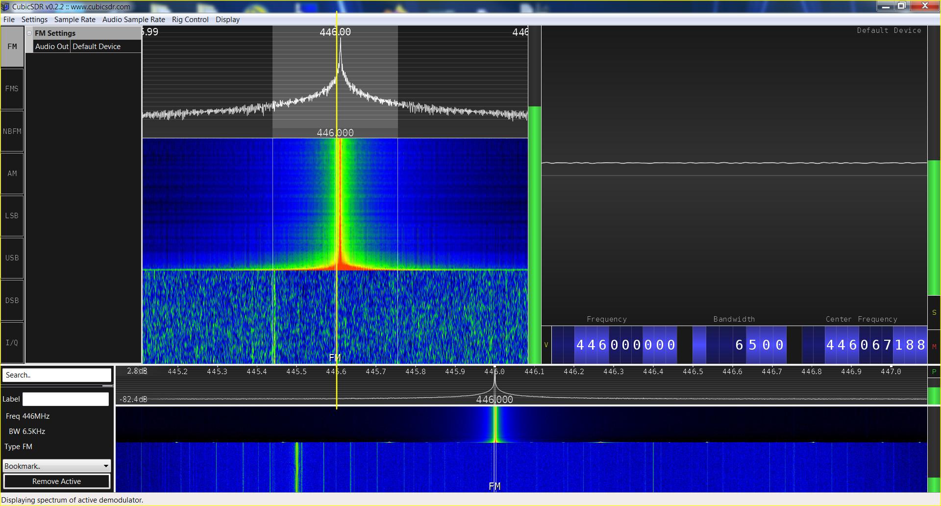 Baofeng GT-5TP SRD spectrum analysis