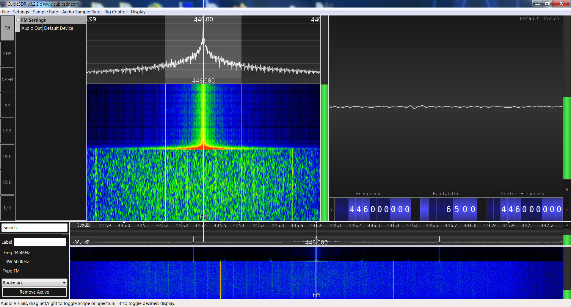 Kenwood TH-D74A SRD spectrum analysis