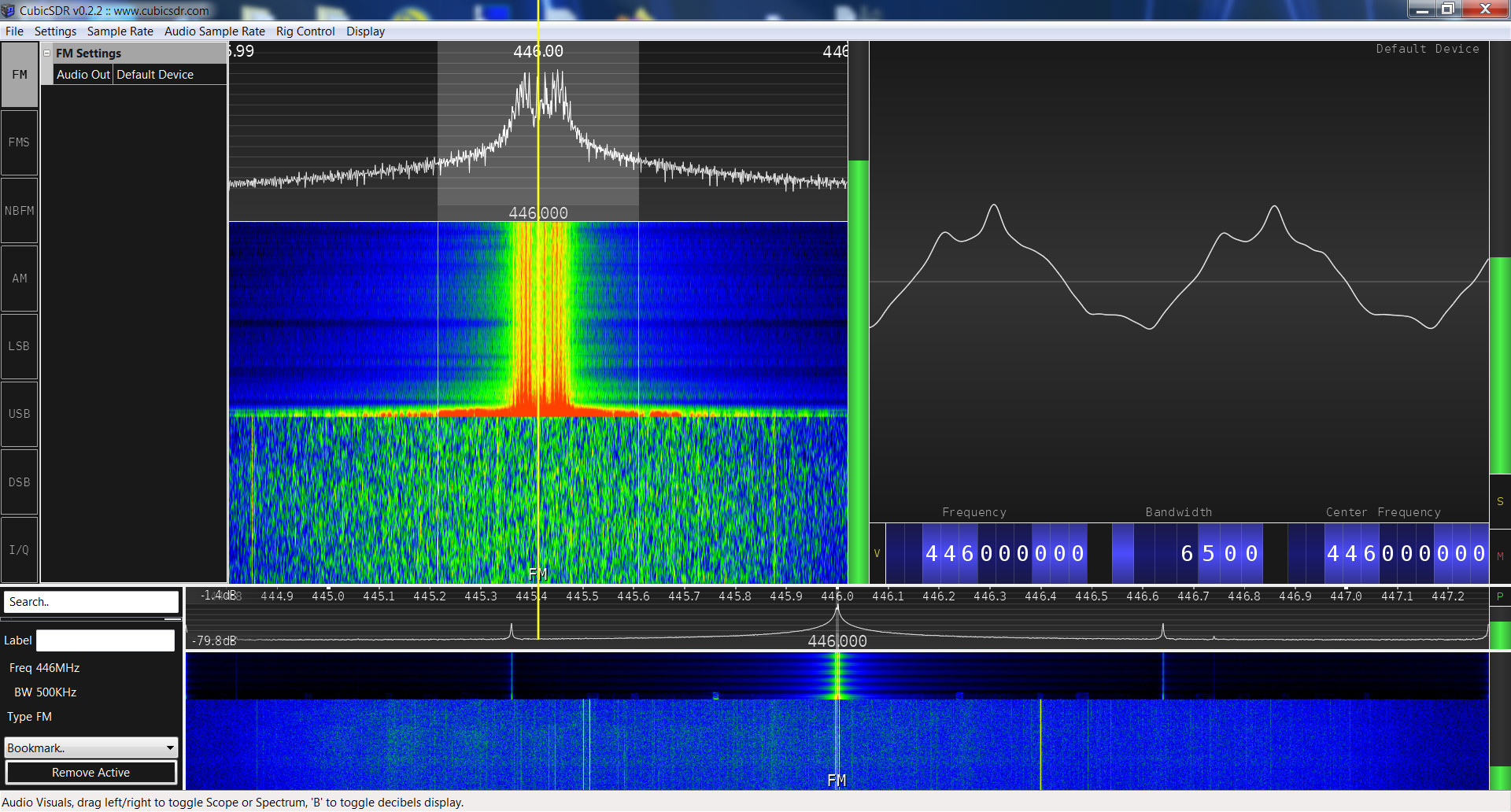 Radioddity GD-77 SRD spectrum analysis