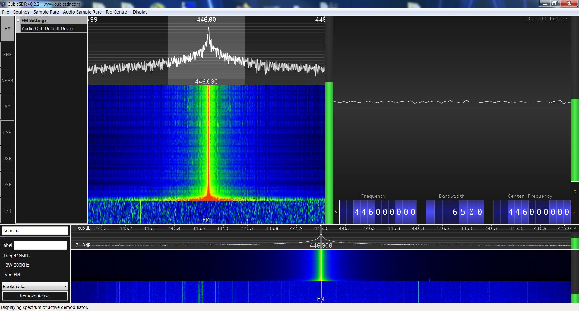 Baofeng BF-F9V2+ SRD spectrum analysis